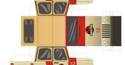 Papercraft Park - sasaki time craft time jurassic park jeep papercraft