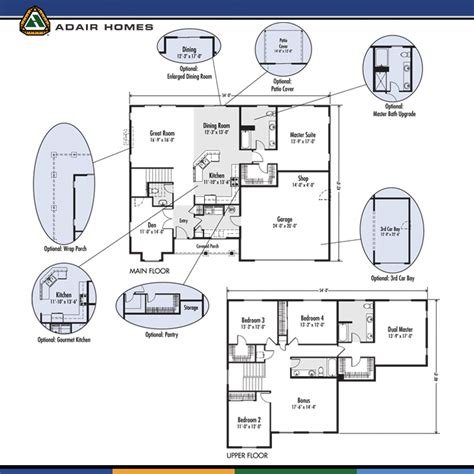 adair floor plans adair home floor plans adair homes plans home plan 17