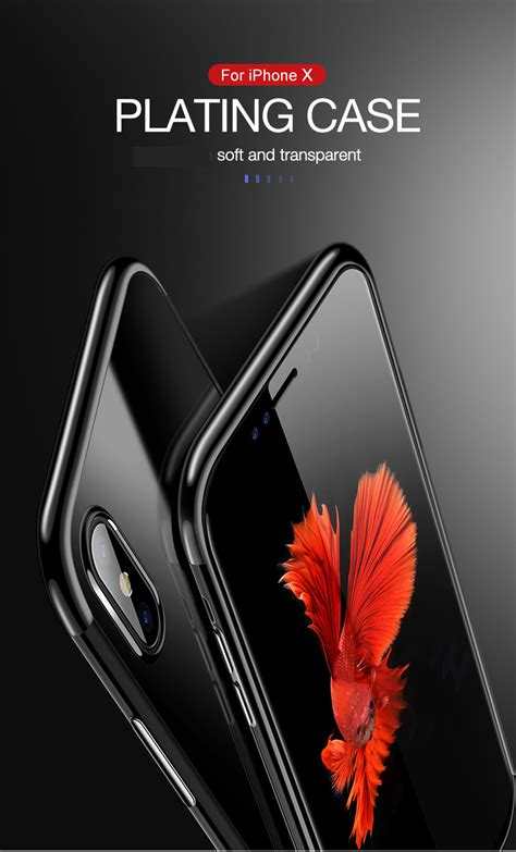 Iphone X Clear Silicone Ultra Thin Electroplating Soft Tpu iphone x clear ultra thin soft tpu silicone colored frame
