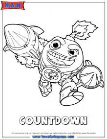Skylanders Swap Force Tech First Edition Countdown Coloring Page sketch template