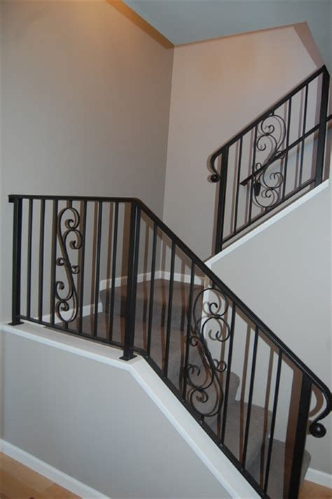 Rod Iron Staircase Wrought Iron Stair Rails Traditional Staircase Seattle