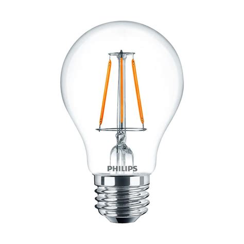 philips a19 led light bulb philips 40w equivalent a19 dimmable glass warmglow led