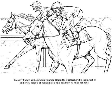 coloring pages of derby horses horse racing color pages horse coloring page of racing