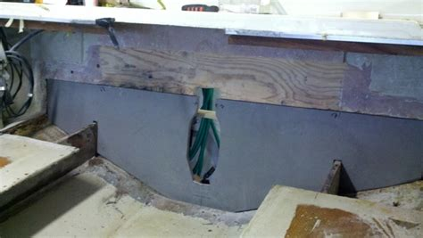 reparing i o transom rot the hull truth boating and - Parker Boats Wood Rot