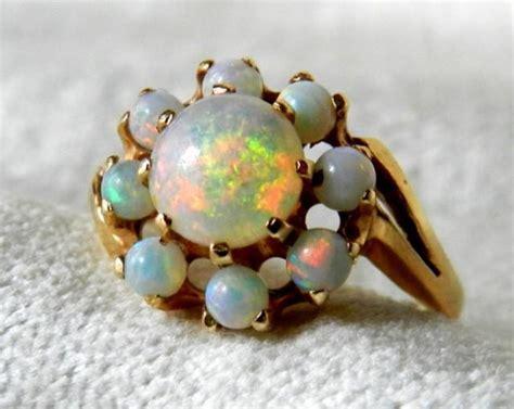 Black Opal 1 8 Ct opal ring 1 8 ct australian black opal deco rainbow