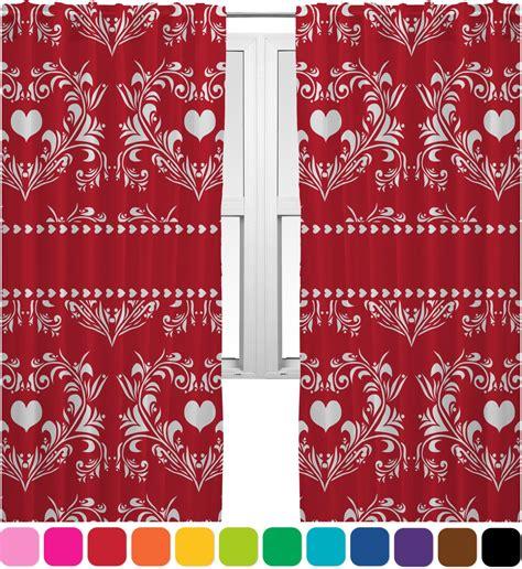 damask kitchen curtains heart damask curtains 20 quot x84 quot panels lined 2 panels