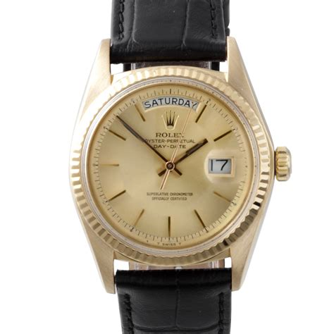 mens gold leather mens used day date
