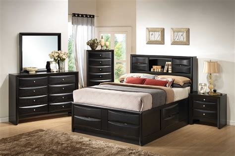 Bed With Headboard Storage Bedroom Furniture Bed