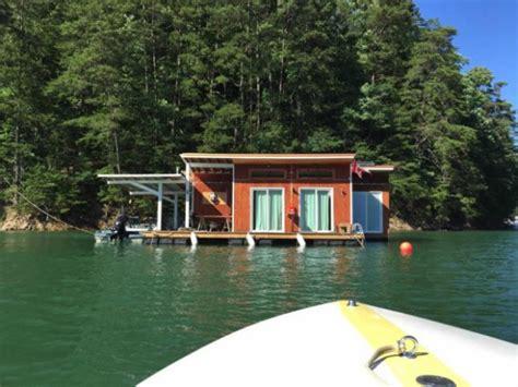 tiny floating cabin  fontana lake
