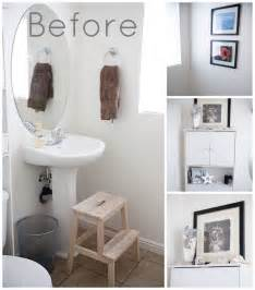 One place in my home that needed a little color was the powder room on