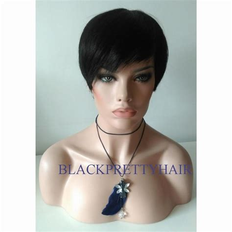 Free Wig Cutting With My New Hair And Trevor Sorbie by New Pixie Cut Human Hair Wig Rihanna Brown