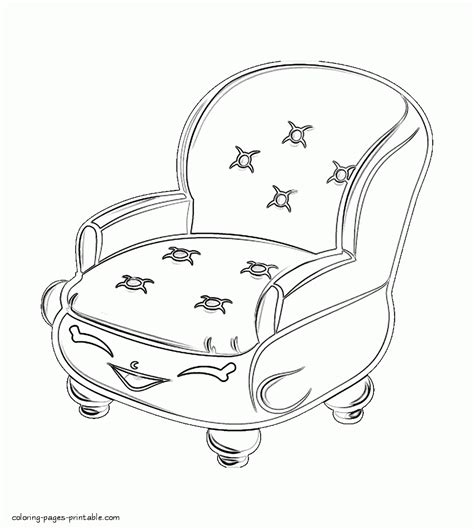 The Big Comfy Coloring Pages by Shopkin Coloring Books Comfy Chair