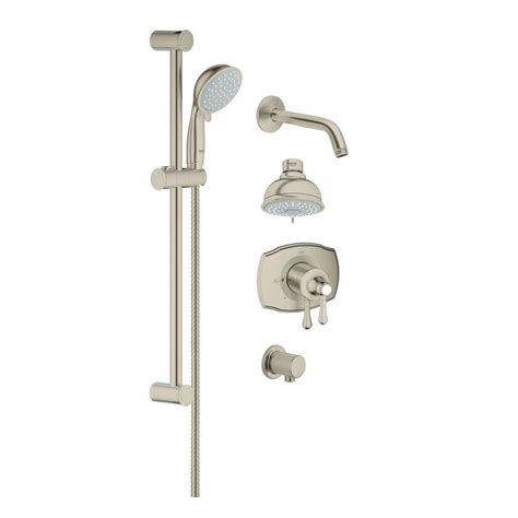Brushed Nickel Shower System by American Standard Commercial Water Saving 36 In Shower
