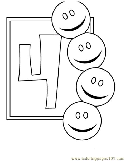 Coloring Pages 4 Coloring Page Numbers 4 Coloring Pages 7 Com Education by Coloring Pages 4