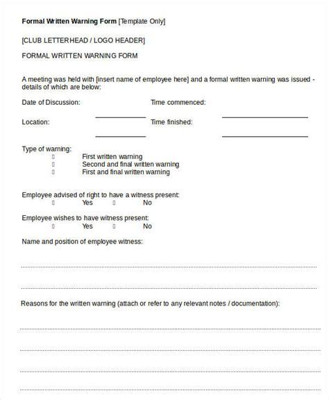employee warning template employee warning notice 11 free word pdf