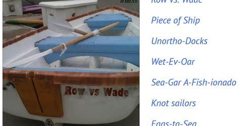cool boat names puns best boat names puns