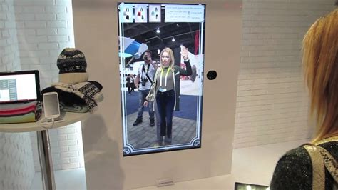 The Technology To Hit The Fitting Rooms Interactive Mirrors by Toshiba Fitting Room Ces 2015