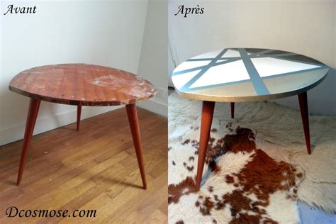 Relooking Meuble Scandinave by Table Basse Scandinave 3 Pieds Compas Avant Apres D Cosmose