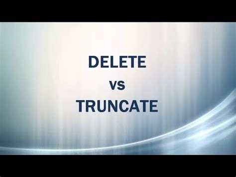 difference between undermount and drop in sql basics difference between truncate delete and drop