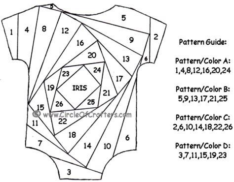iris card patterns baby onesie iris folding pattern templates