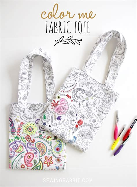 Color Me Fabric Tote DIY   The Sewing Rabbit