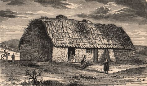 Cottages In Islay by Islay A Cottage In Islay 1774 Scotland Antique Print 1885 Ebay