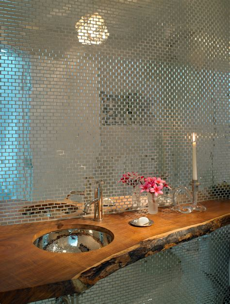 mirrored subway tiles bathroom traditional with black mirrored subway tiles bathroom industrial with beige floor