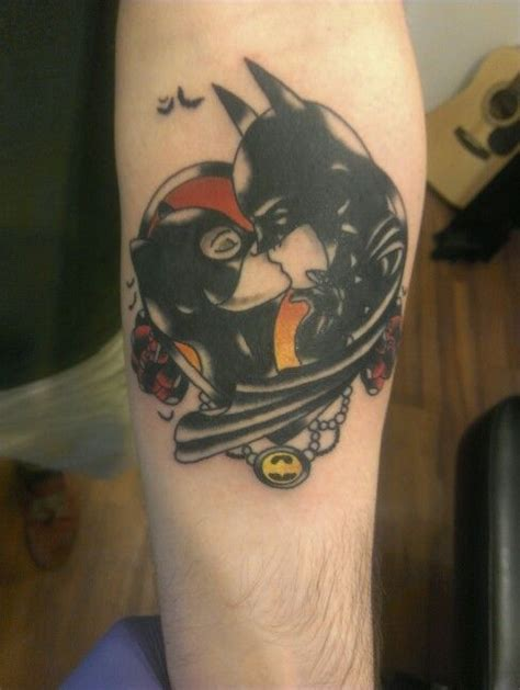 batman catwoman tattoo 39 best comic book and cartoon tattoos images on pinterest
