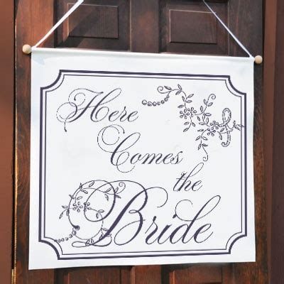 Wedding Banner Phrases by Quot Here Comes The Quot Fancy Wedding Banner Trading