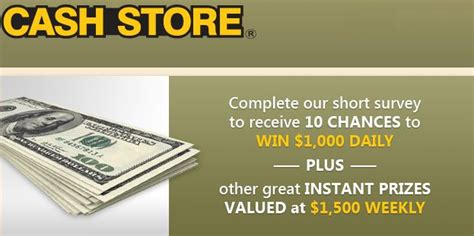 Store Surveys For Money - cash store survey