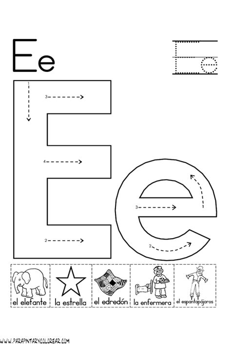 imagenes que empiecen con la letra e para imprimir el abecedario dibujos para colorear ciclo escolar