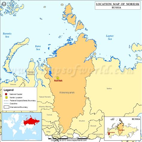 norilsk russia maps where is norilsk location of norilsk in russia map