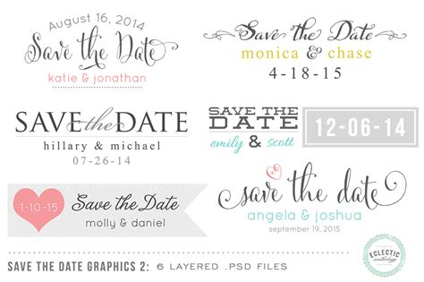 Save The Date Overlays Layered Psd Objects On Creative Market Save The Date Template Psd