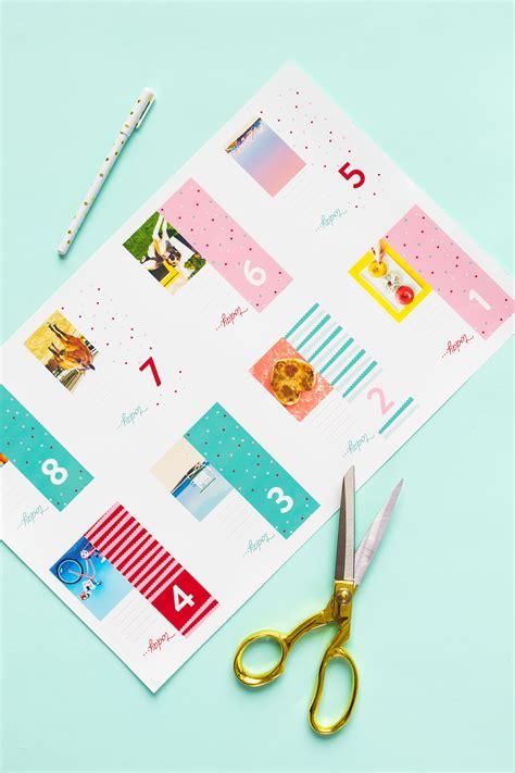 make your own advent calendar with photos customizable advent calendar hearts