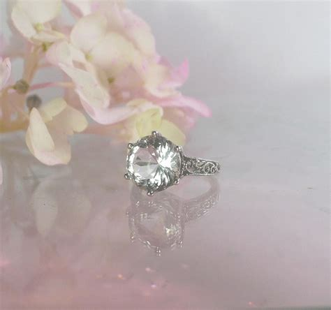 non traditional engagement ring sterling silver conflict free