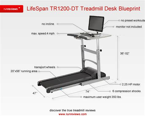 What Size Exercise For Desk by Lifespan Tr1200 Dt Treadmill Desk