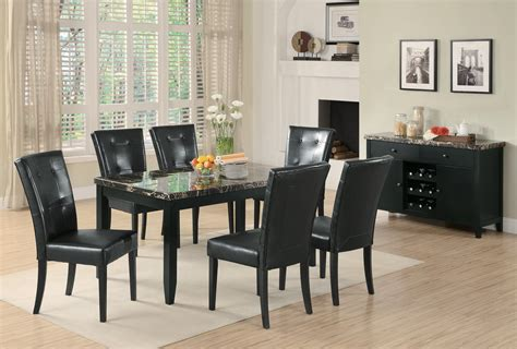 Marble Dining Room Table Set Anisa Collection 102791 Faux Marble Dining Set Coaster Furniture Furniture Living Spaces