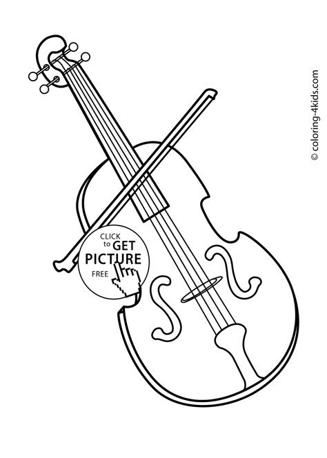 violin printable coloring pages