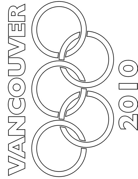 coloring pages olympic games olympic coloring pages vancouver 2010