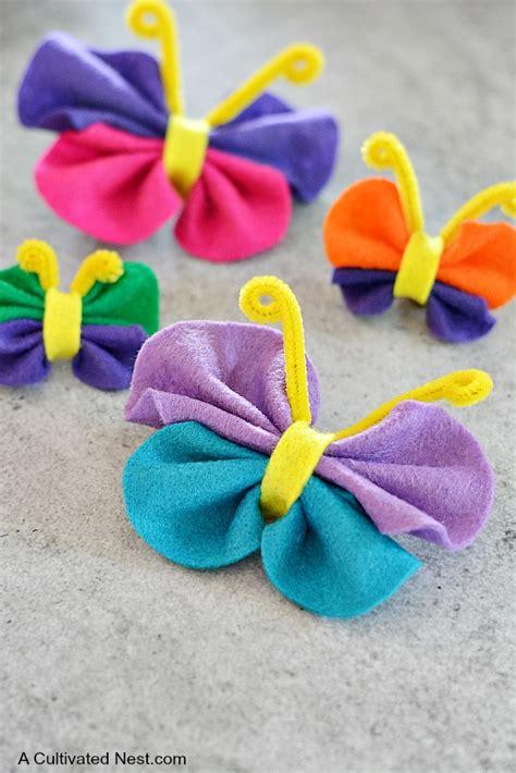 felt crafts easy no sew felt butterfly craft