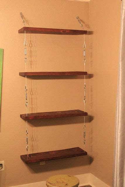 Suspended Shelf by How To Make Suspended Shelves With Steel Cable And Turnbuckles