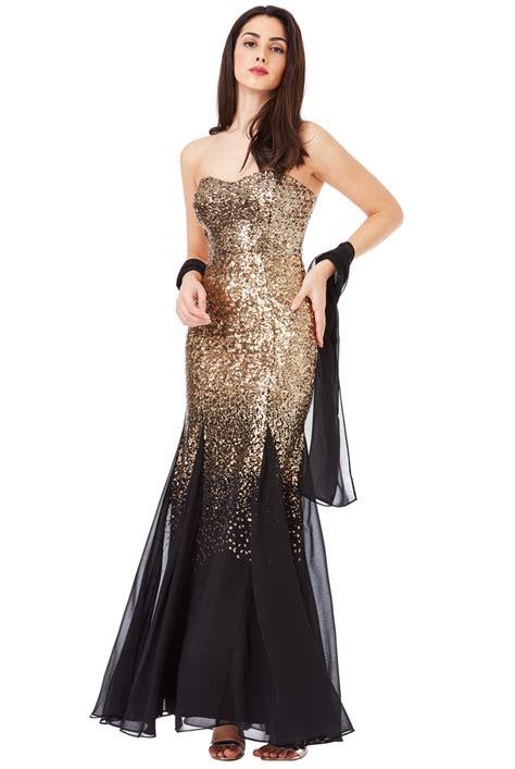 goddiva womens black gold bridesmaids maxi dress sequin