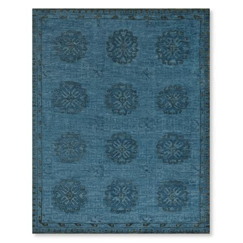 williams sonoma rugs blue blossom knotted rug williams sonoma