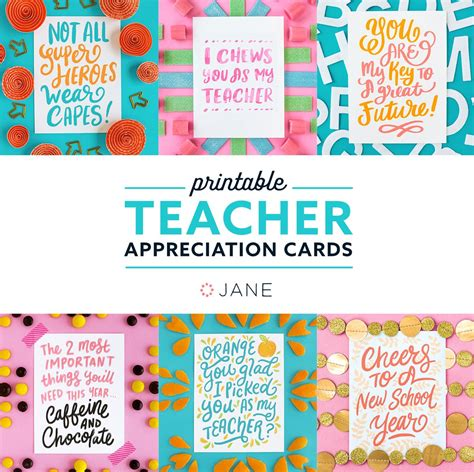 printable teachers day card jane com free teacher appreciation printable cards