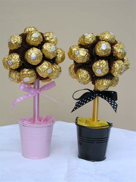 diy ferrero rocher tree mini ferrero trees my style chocolate flowers bouquet chocolate flowers and