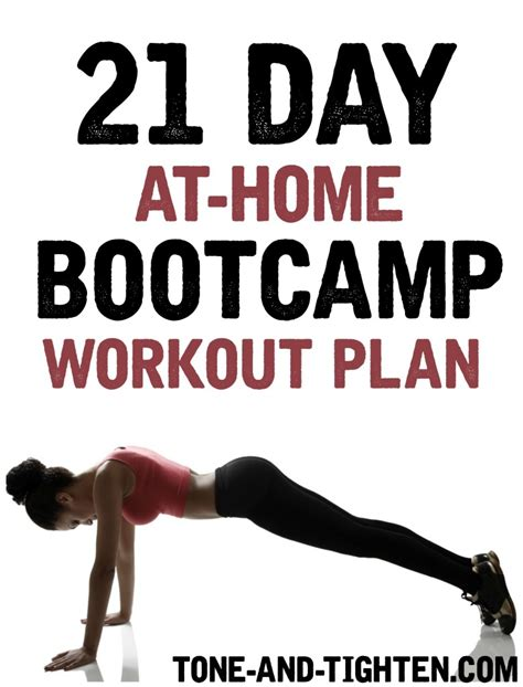 21 day at home bootc workout plan tone and tighten