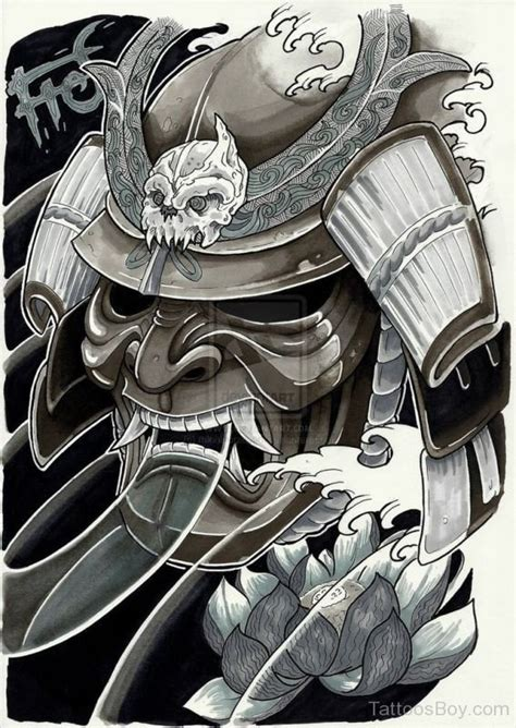 samurai helmet tattoo designs samurai tattoos designs pictures