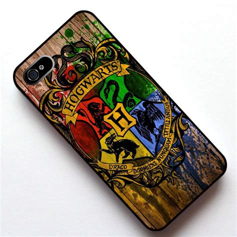Casing Hp Cover Iphone 5 5s 6 6s 6 Plus 6s Plus Leather Metal hogwarts logo harry potter cover for apple