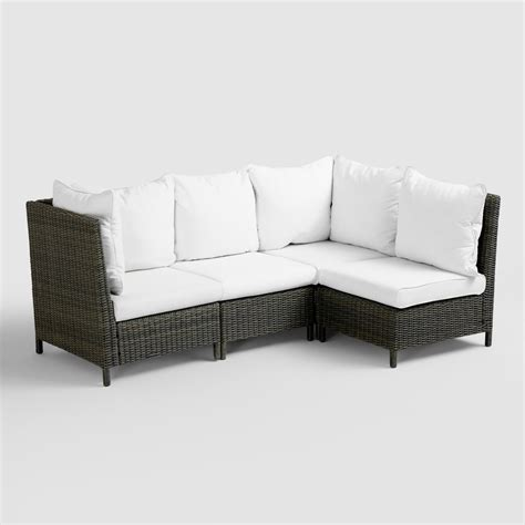 outdoor patio sectional sofa solano outdoor sectional collection world market
