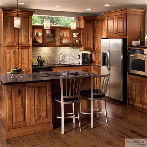 rustic birch kitchen cabinets this rustic birch cabinetry with a praline finish adds a